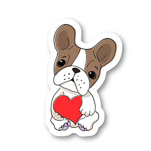 Frenchie Sticker French Bulldog Stickers - 3 Pack - Set of 2.5, 3 and 4 Inch Laptop Stickers - for Laptop, Phone, Water Bottle (3 Pack) S214471
