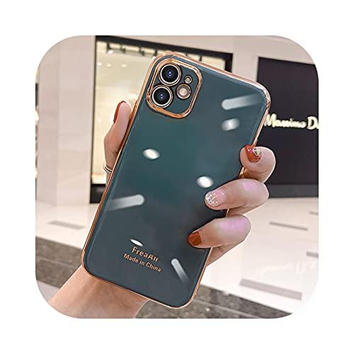 Electroplate TPU caso para iPhone 11 Pro Max XS X XR 7 8 6 6S Plus SE a prueba de golpes silicona suave lujo casos cubierta gris para iPhone 6S