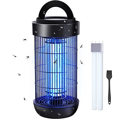 FLASHVIN Electronic Mosquito Zapper Outdoor Bug Zapper Bug Light Zapper Waterproof with Extra Bulb 4000V Highly Powered for Backyard, Patio, Home