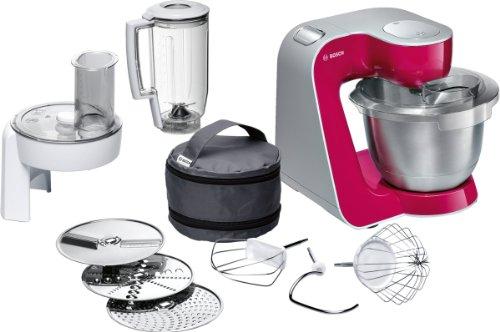 Bosch MUM54420 Styline Colour - Robot de cocina con bolsa de accesorios (900 W), color rojo fucsia