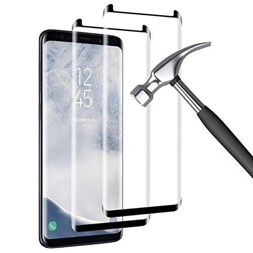 Mriaiz [2-Pack Protector Pantalla Compatible con Samsung Galaxy S8 Plus, [9H Dureza] [Alta Definicion] [Anti Rasguños], Cristal Vidrio Templado/Protector de Pantalla para Samsung Galaxy S8 Plus