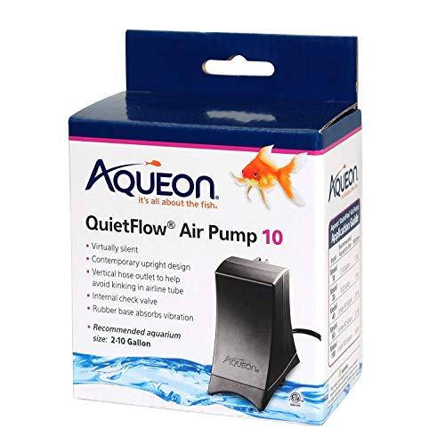 Aqueon Quiet Flow 10 Aquarium Air Pump, 2-10 Gallons