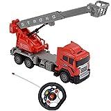 deAO Camion de Pompiers à 6 canaux entièrement Fonctionnel avec télécommande et émetteur au Volant – Fonctions d'éclairage réalistes