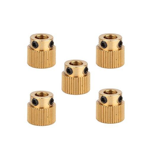 Creality 3D Printer Parts 5PCS Brass Extruder Wheel 40 Teeth Drive Gear for CR-10.CR-10S,S4,S5,Ender 3,Ender 3 Pro,Ender 3 V2