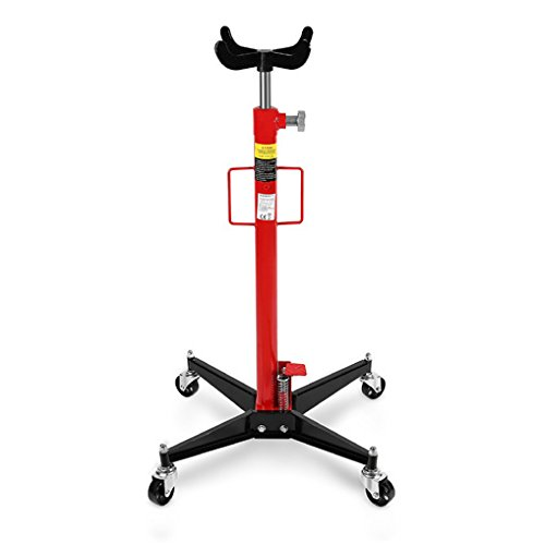 EBERTH 500kg Sollevatore idraulico da fossa (Altezza di lavoro 110 - 195 cm, 4 Ruote, regolabile in altezza all\'infinito, Croce di registrazione, Elevata capacità di carico)