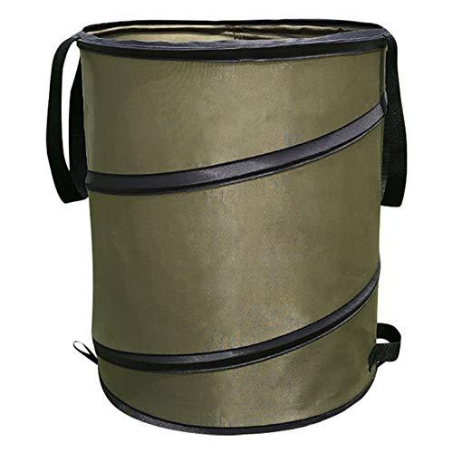 ZLC Pop-up 25 gallons / 114 litres Jardin Grande Poubelle extérieure pelouse Jardin Portable Feuille Poubelle Sac Maison Jouet vêtements Sac de Rangement, A, S, 37.8L / 8.3 gallons