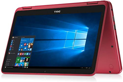 "2019 Dell Inspiron Lightweight 11.6"" Touchscreen 2 in 1 Laptop Computer, AMD A6-9220e up to 2.4GHz, 4GB DDR4 RAM, 64B eMMC, Radeon R4 Graphics, Wifi, Webcam, Bluetooth, HDMI, USB 3.1, Windows 10 (Red)"