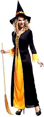KIRALOVE Disfraz de Bruja - musaraña - Disfraces de Mujer - Halloween - Carnaval - hechicera - Medieval - Color Negro - Adultos - niña - Talla única - Idea de Regalo Original