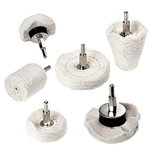 DEHAO Lot de 6 disques de polissage pour visseuse sans fil, en aluminium et acier inoxydable chromé