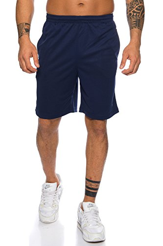 Raff & Taff Herren Shorts Bermuda Sportshorts Sporthose Funktionshose Traningshose schnell trocknend (Nevi, L)