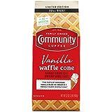 Community Coffee Vanilla Waffle Cone, Ice Cream Flavored Coffee, Ground, 32 Ounce Bag