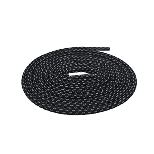 Lacet réfléchissant Lacets Corde de Magie Blanche Lacets pour Chaussures Shoestring Bottes Baskets, 271 Noir 3m, 140cm