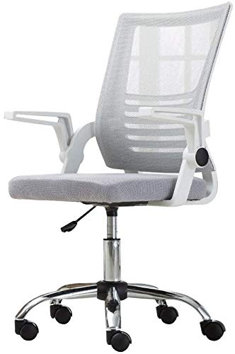 THBEIBEI Computer Chair Executive and Ergonomic Swivel Chair Height Adjustable High Back Mesh Seat Gaming Chair with Adjustable Armrest Task Swivel Athletic Chair (Color : Gray)