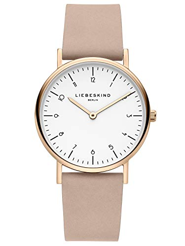 Liebeskind Berlin Damen Analog Quarz Uhr mit Leder Armband LT-0166-LQ