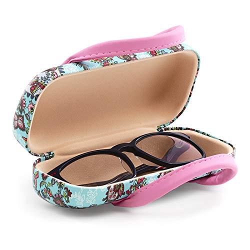 Starres Etui für Brillen mit flexiblem Verschlusssystem und flexiblen Griffen. Innenfutter in Samt-Optik (Vintage)