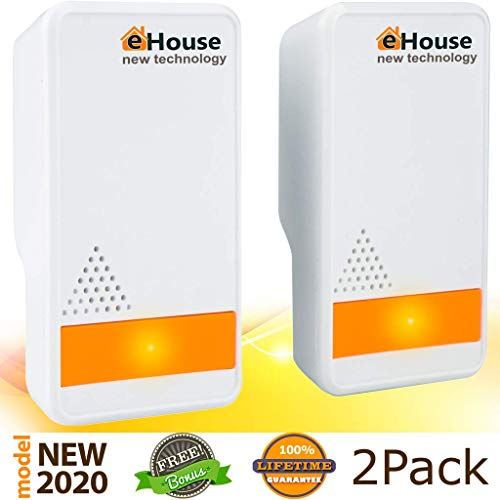 Best squirrel repellent - BH-3 Ultrasonic Pest Repeller - (2 Pack) Electronic Plug in Best Repellent - Pest Control - Get Rid of - Rodents Squirrels Mice Rats Insects - Roaches Spiders Fleas Bed Bugs Flies Ants Fruit Fly!