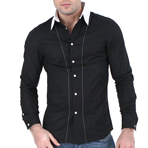 Élégant Prime designer hommes occasionnels mince chemises habillées belle Slim Fit Shirt top collection