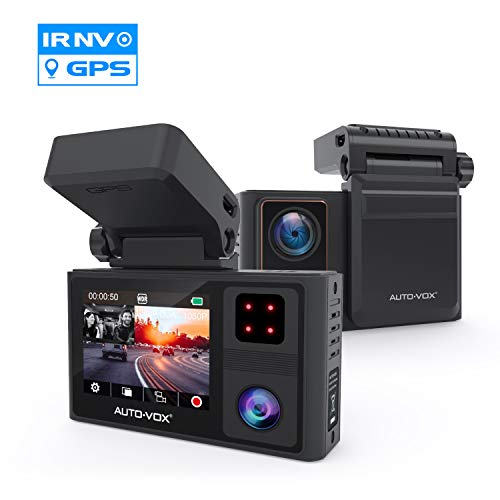 AUTO-VOX Dual Dash Cam Front and Inside 1920x1080P,Infrared Night...