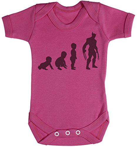 Baby Evolution to A Wolveine Body bébé - Gilet bébé - Body bébé Ensemble-Cadeau - Naissance Rose