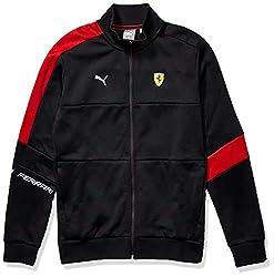 in budget affordable PUMA Formula 1 Scuderia Ferrari T7 Men's Track Jacket-Puma Black, L.
