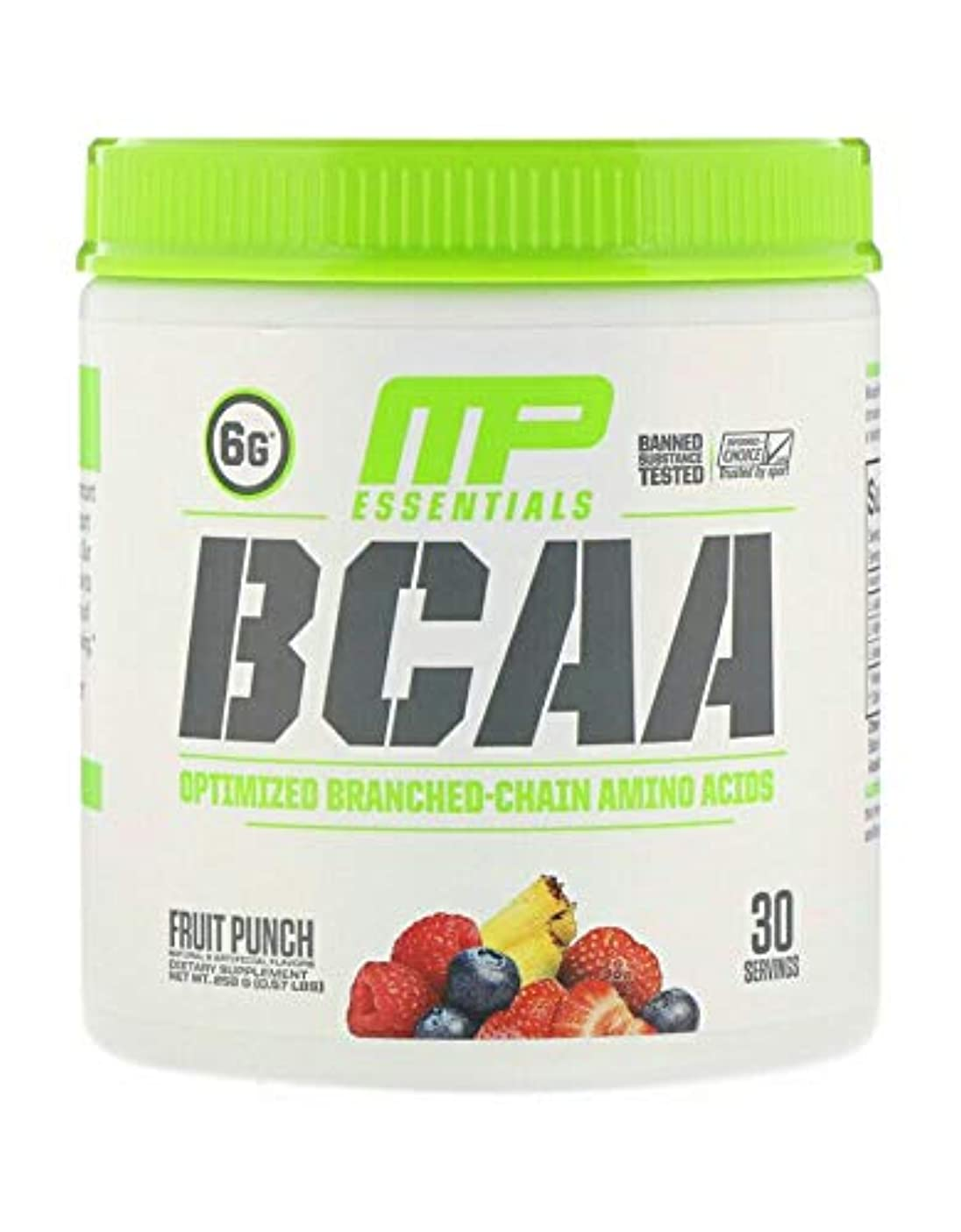 しつけ修道院優雅MusclePharm, BCAA、 フルーツポンチ (258 g) 並行輸入品