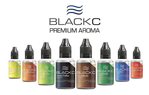BLACKC PREMIUM AROMA zum selber mischen von E-Liquid/Liquid-Base für E-Zigaretten und E-Shishas – ORIGINAL AROMA-KONZENTRAT unserer TOP-Seller-E-Liquids, MADE IN GERMANY (Vanilla - Toffee, 20 ml)