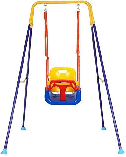 ZHENAO Camping Hammock Interior Swing, Silla Colgante de Niños Plegables Antideslizantes, Asiento de Lujo de Engrosamiento Ensanchado, Haa Al Aire Libre para Bebé, 155X140X103Cm (61