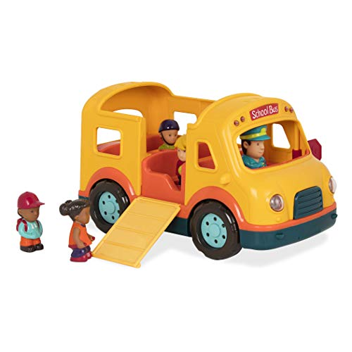 Battat – Light & Sound School Bus – School Bus Toy Vehicle for Toddlers 18 Months + (6Pc), Model:BT2657Z