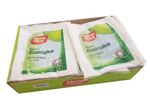 Caja 24 Bayetas ecológicas multiusos tamaño XL 50x42 cms