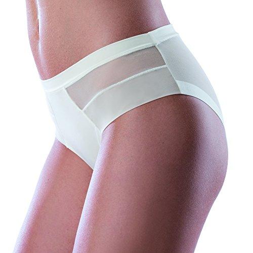 LOVABLE Invisible Ultralight Slip Mutande da Donna, Bianco (White 003), 3/M
