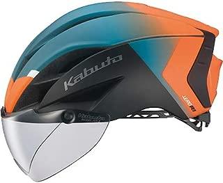 OGK KABUTO(オージーケーカブト) ヘルメット AERO-R1 (エアロ-R1) カラー:G-2マットオレンジグリーン サイズ:S/M(頭囲:55~58cm)