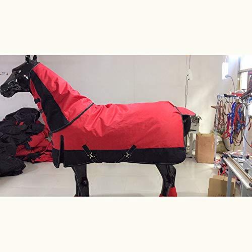 XLYAN Caballos Exterior Breeches – Manta De Invierno con Forro Interior De Forro Polar, Correas Y Transpirable,Cuello Ajustable,125cm