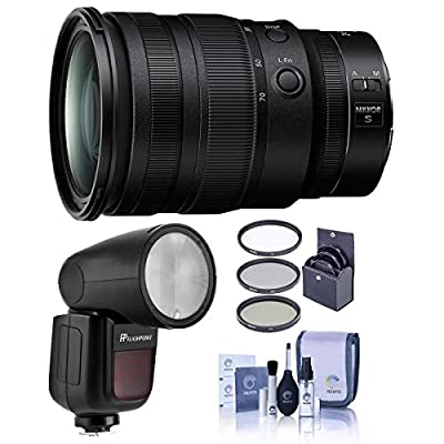 Nikon NIKKOR Z 24-70mm f/2.8 S Lens - Bundle with Flashpoint Zoom Li-on X R2 TTL On-Camera Round Flash Speedlight, 82mm Filter Kit, Cleaning Kit by Nikon