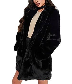 Best black faux fur coat Reviews