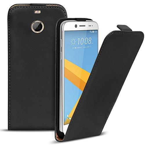 Conie BF4467 Basic Flip Kompatibel mit HTC 10 Evo, PU Leder Hülle Cover Klapphülle für HTC 10 Evo Tasche Schwarz