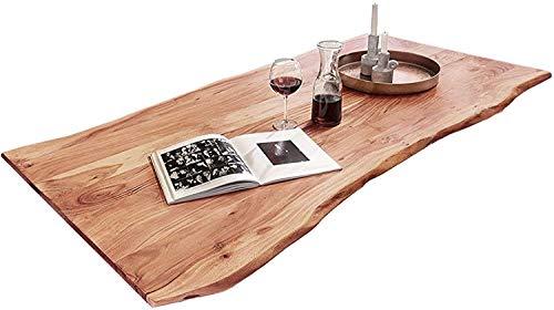SAM Tischplatte 160x85 cm, Quintus, Akazie, naturfarben, stilvolle Baumkanten-Platte, Unikat