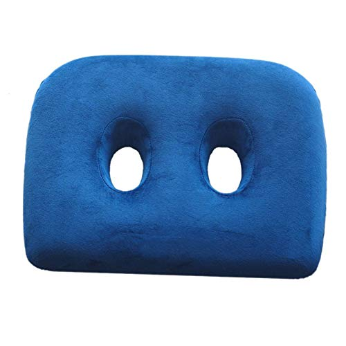 SILUQ Memory Foam Seat Cushion, with Two Holes Best for Hemorrhoids Chair Pad Thicken Back Hip Coccyx Pain Relief for Home Office Cushion-a 43368cm