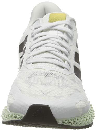 adidas 4D Run 1.0, Men's Cross Country Running Shoe, Ftwwht Cblack Goldmt, 5 UK (38 EU)