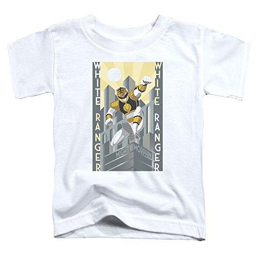 Power Rangers - - Los niños pequeños Ranger Blanco Deco Camiseta