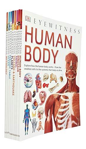 DK Eyewitness Collection 16 Books Set (Human Body, Ocean, Volcano & Earthquake, Animal, Planets, Periodic Table, Dinosaurs, Mythology)