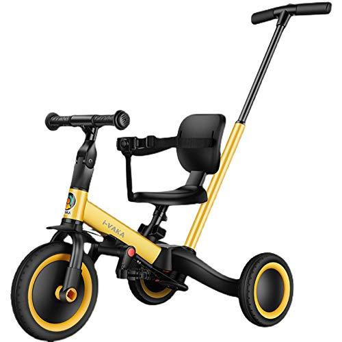 Triciclo Para Niños Tres en Uno: Triciclo Para Niños Pequeños,Sin ángulos Agudos Para Todo El Coche,Triciclo Para Niños de 45 Cm con Distancia Entre Ejes Ampliada,Adecuado Para Bebés de 1 a 5 años