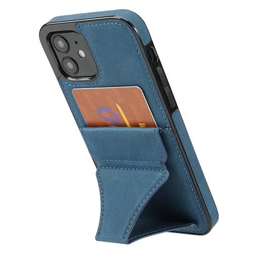 Funda para iPhone 11 Funda Carcasa Forro celulares Case DYGG Compatible con Soporte Plegable Invisible 3D 3 en 1 Cover PU+TPU Cuero con magnético Ranura para Tarjetas Case(Azul)
