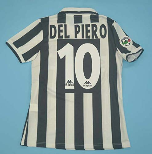SU DEL Piero#10 Retro Trikot 1995-1996 Full Patch White&Black Color (M)