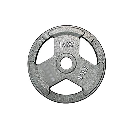 Barbell Barbell Standard 2-Inch Grip Weight Plates, Single, Gray Grip Plate, Painted Barbell with Large Hole 2.5kg/5lb-20kg/44lb Olympic Grip Plate (Size : 2.5kg/5lb)