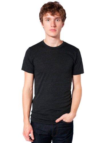 American Apparel Unisex Tri-Blend Short Sleeve Track Shirt - Tri-Black / L