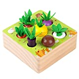 🎁【Fun Sorting Game Wooden Toys】Develop your little ones sorting skills with SEAMEW carrot sorting wooden toys! This sorting montessori toys for toddlers combines fun and learning into one creative activity for your little one to enjoy. There are 7 di...