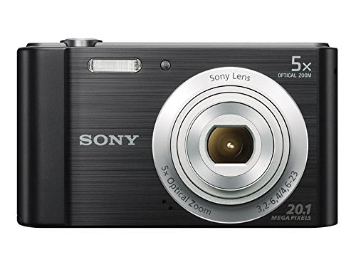 Câmera Sony Cyber-Shot DSC-W800 20.1MP Visor 2.7 - Zoom Óptico 5x Imagem Panorâmica, Preta