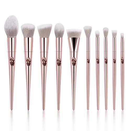 Makeup Brushes Set, Professional Brush Foundation Eyebrow Eyeliner Blush Cosmetics Brush Kit (10pcs(laser))