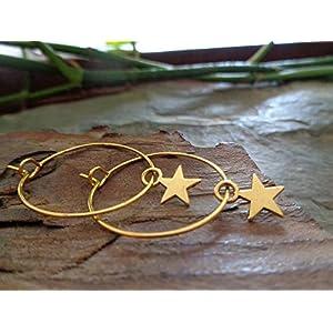 ✿ GOLDENE ZARTE STERN CREOLEN ✿ KLEINE OHRRINGE & GOLD STERN