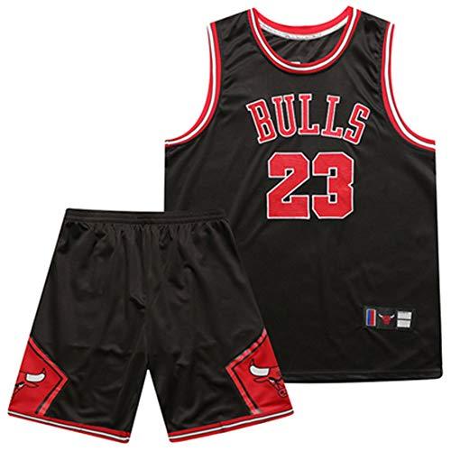 23# Fan jerseyversion da basket, da uomo, Lebron James # 23 Lakers Swingman Jersey Michael Jordan # 23 Chicago Bulls, maglietta da basket, giubbotto shorts, regali per fanatici-Red-S